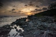 sea, dawn, ocean
