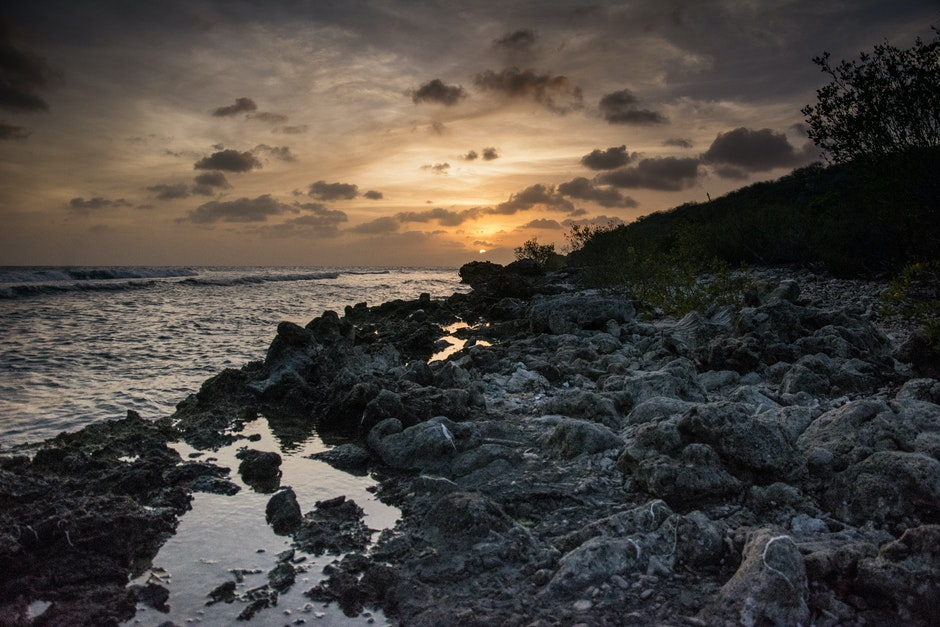 coast, curacao, dawn