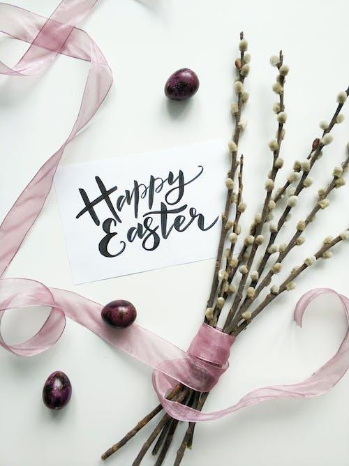 Ilmainen kuvapankkikuva tunnisteilla haarukka, Hyvää pääsiäistä, kortti, kukat