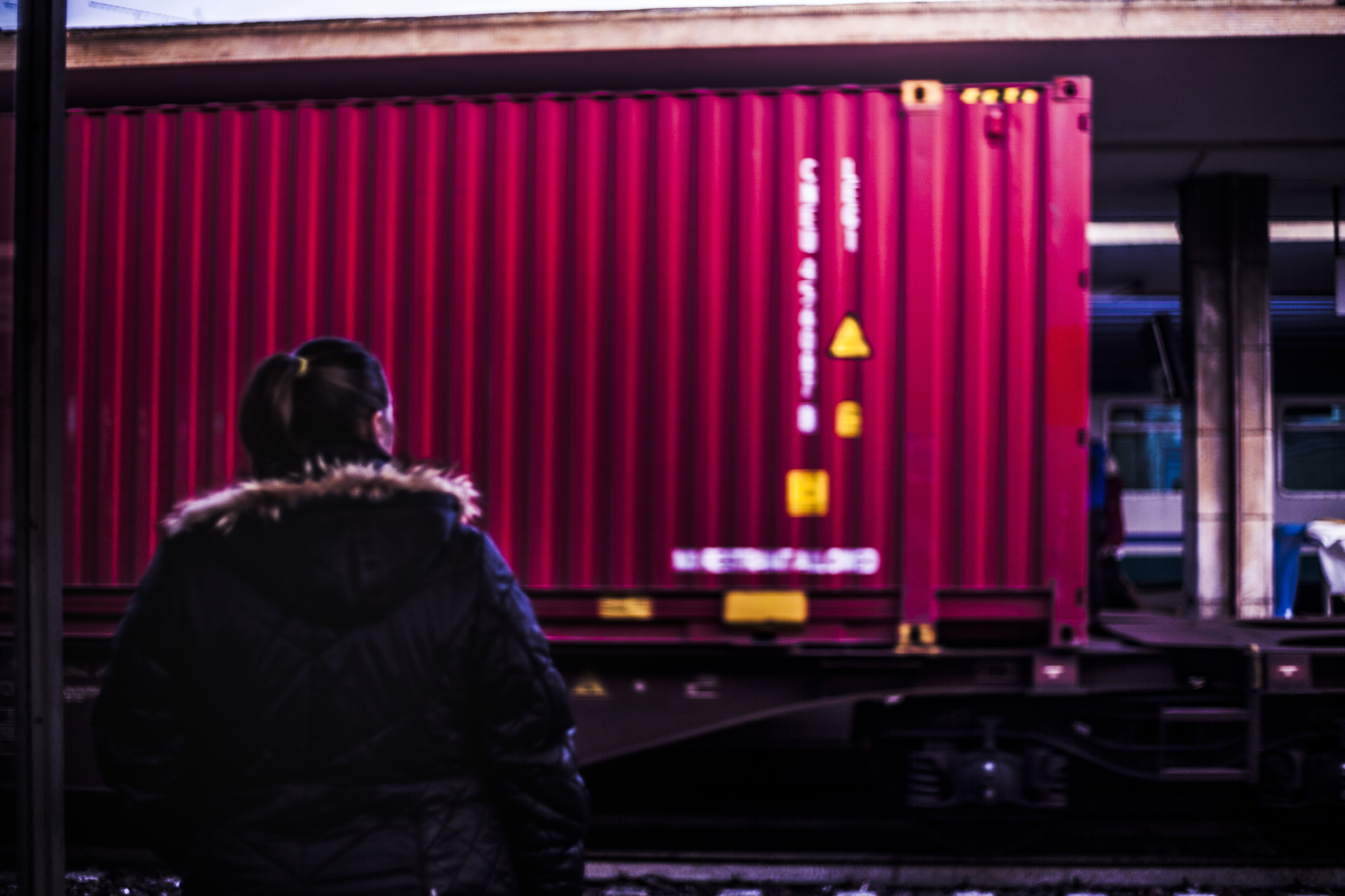 Free stock photo of train, station, container