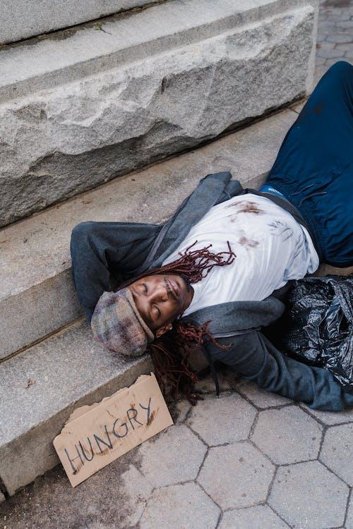 Gratis stockfoto met achtergelaten, Afro-Amerikaanse man, alleen zijn