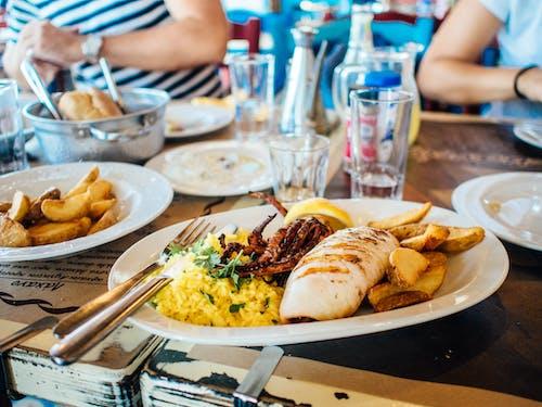 Kostnadsfri bild av bläckfisk, foodporn, frites, havsmat
