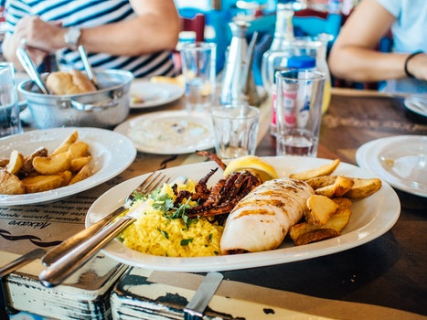 Free stock photo of food, plate, restaurant, dinner