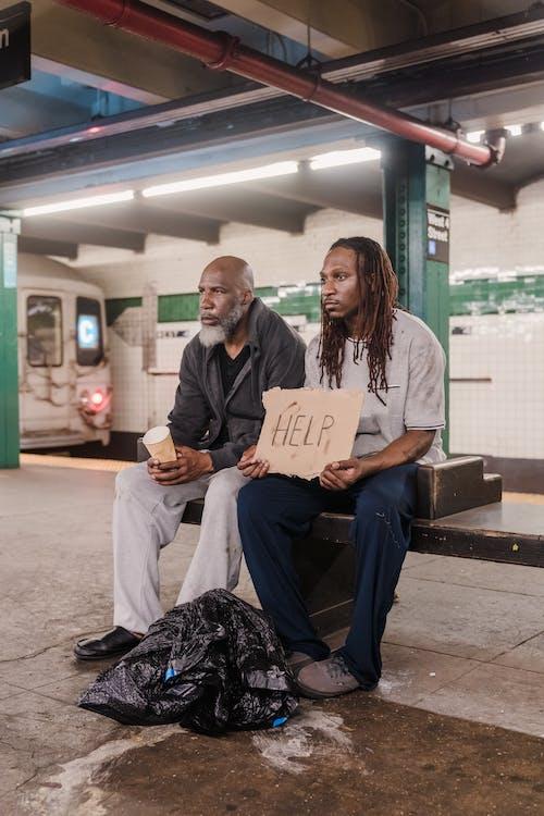 남자, 노숙자, 노인의 무료 스톡 사진