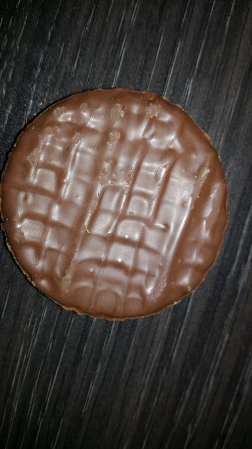 Free stock photo of biscuit, Chocolate digestive