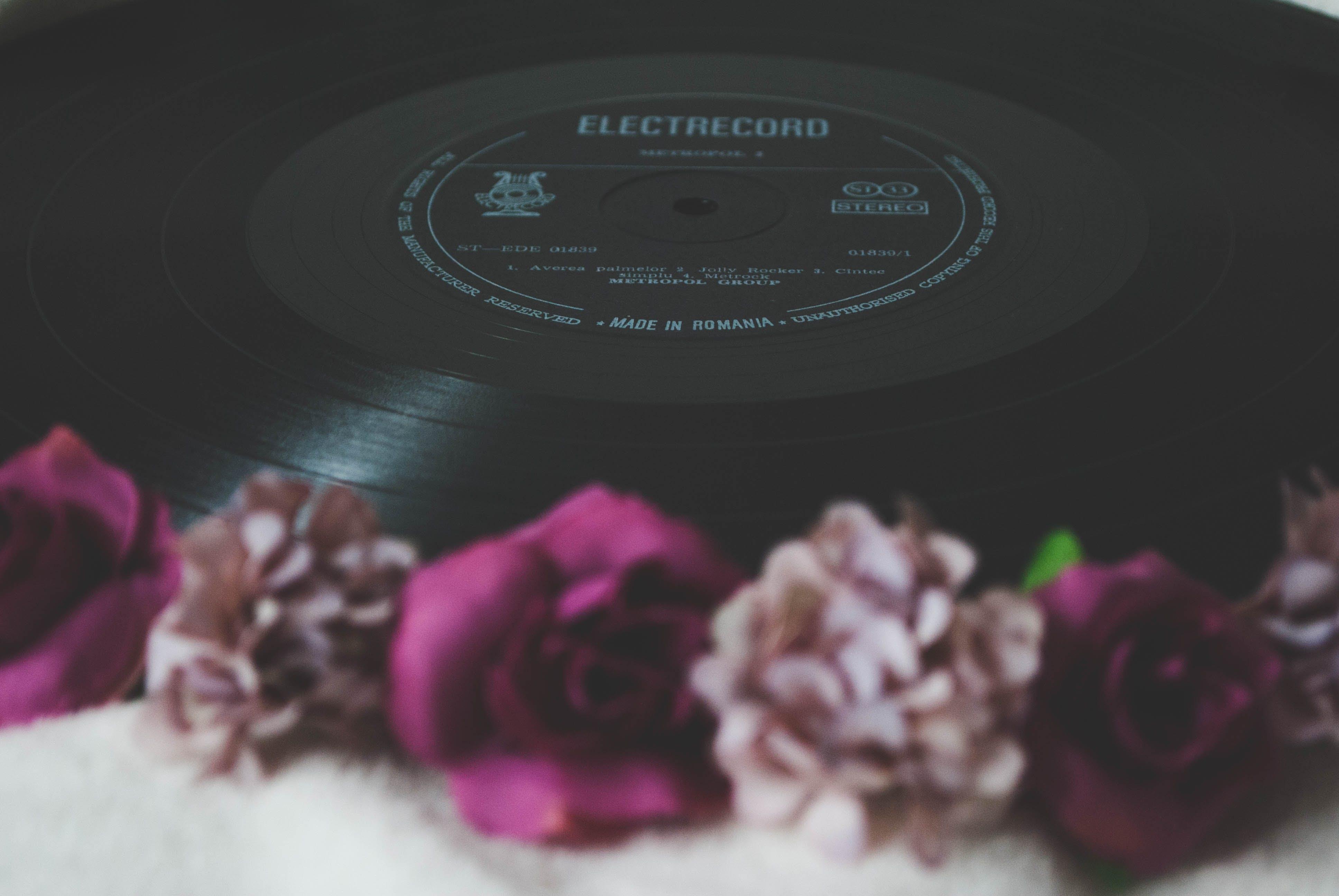 Floral Electrocord Vinyl Record Decor