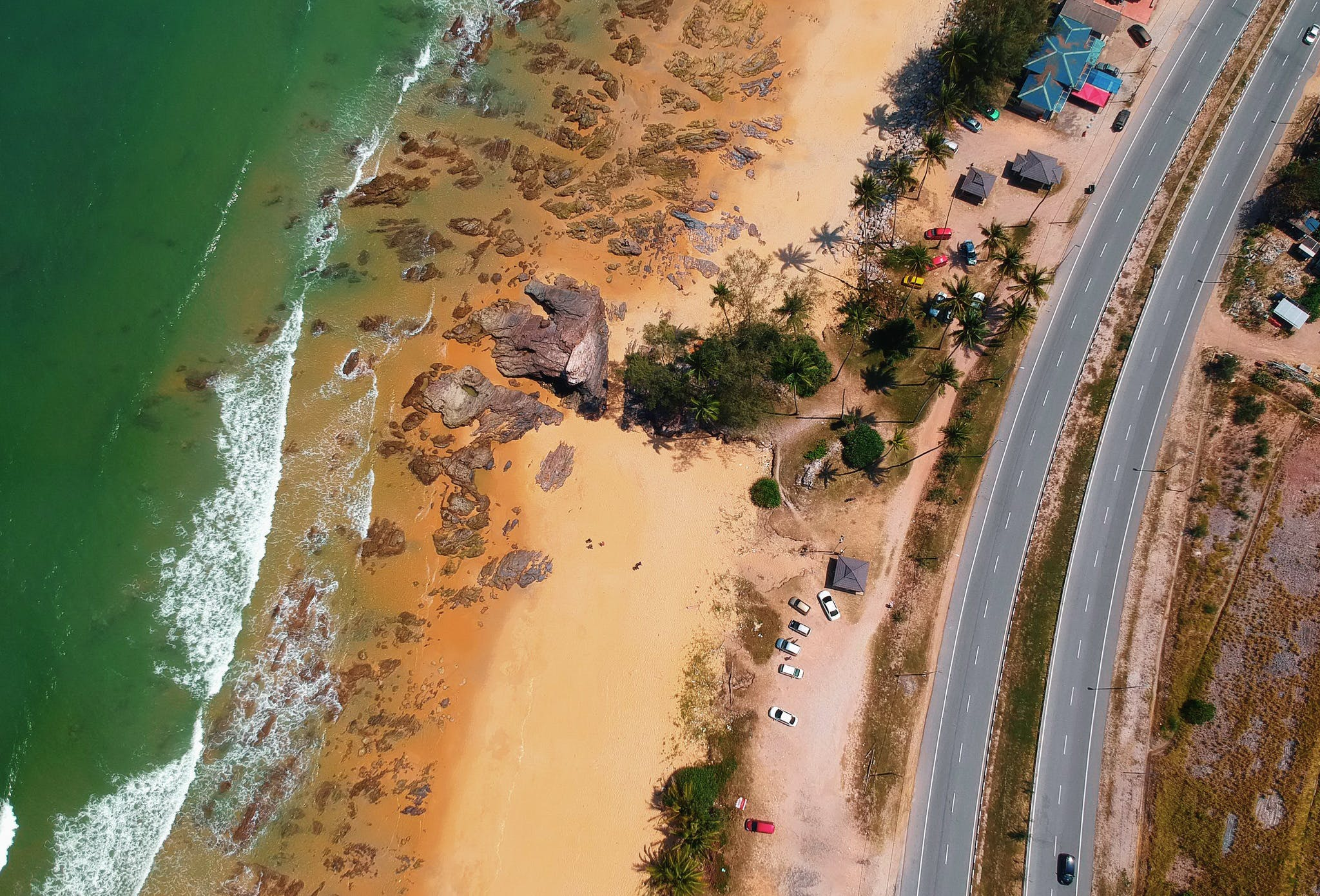 Aerial View Photography of Shore