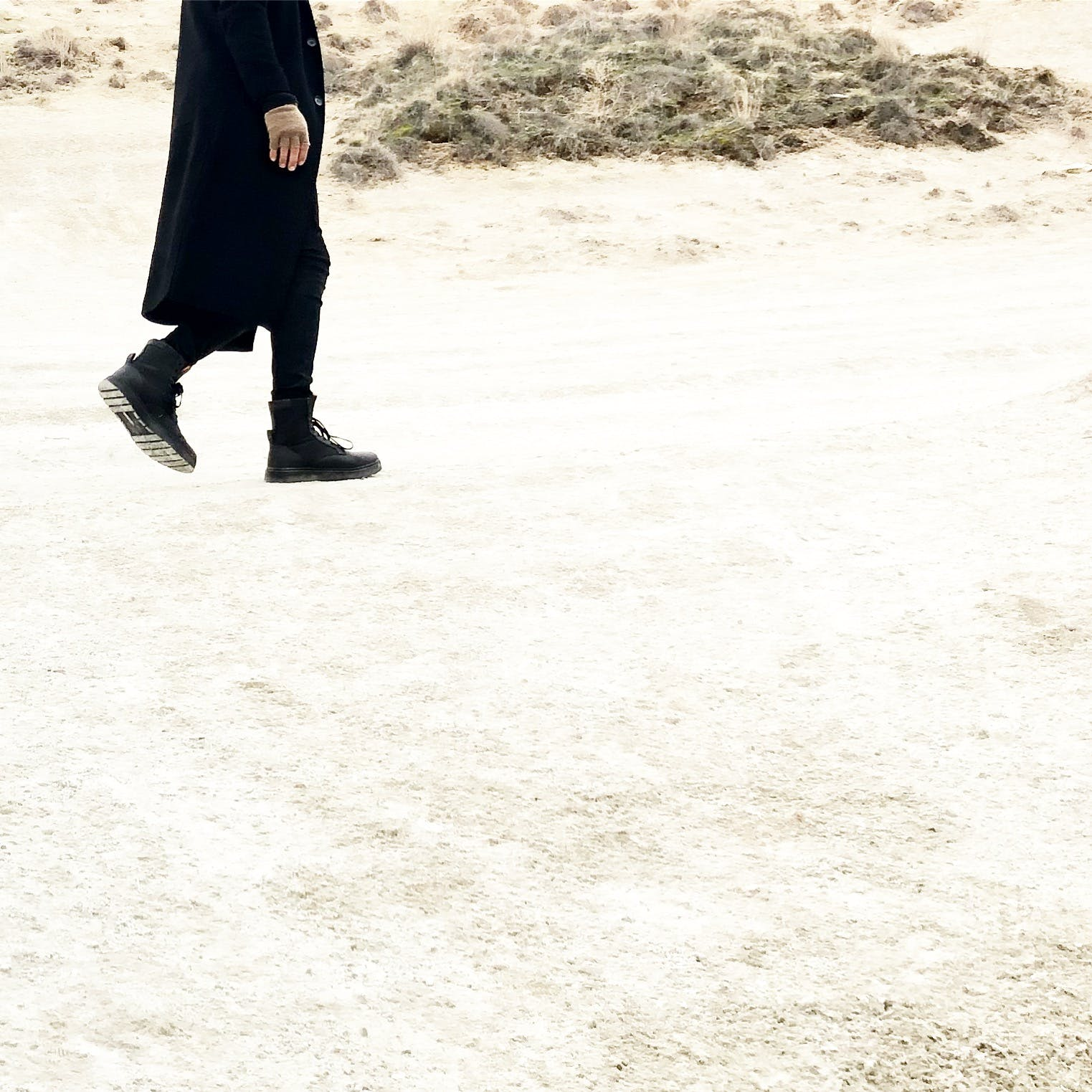 Person In Black Coat