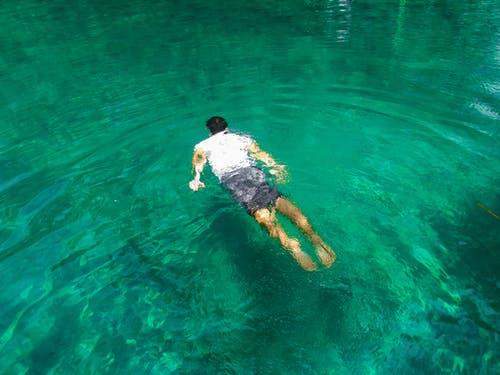 Photo of Man Swimming On Clear Water