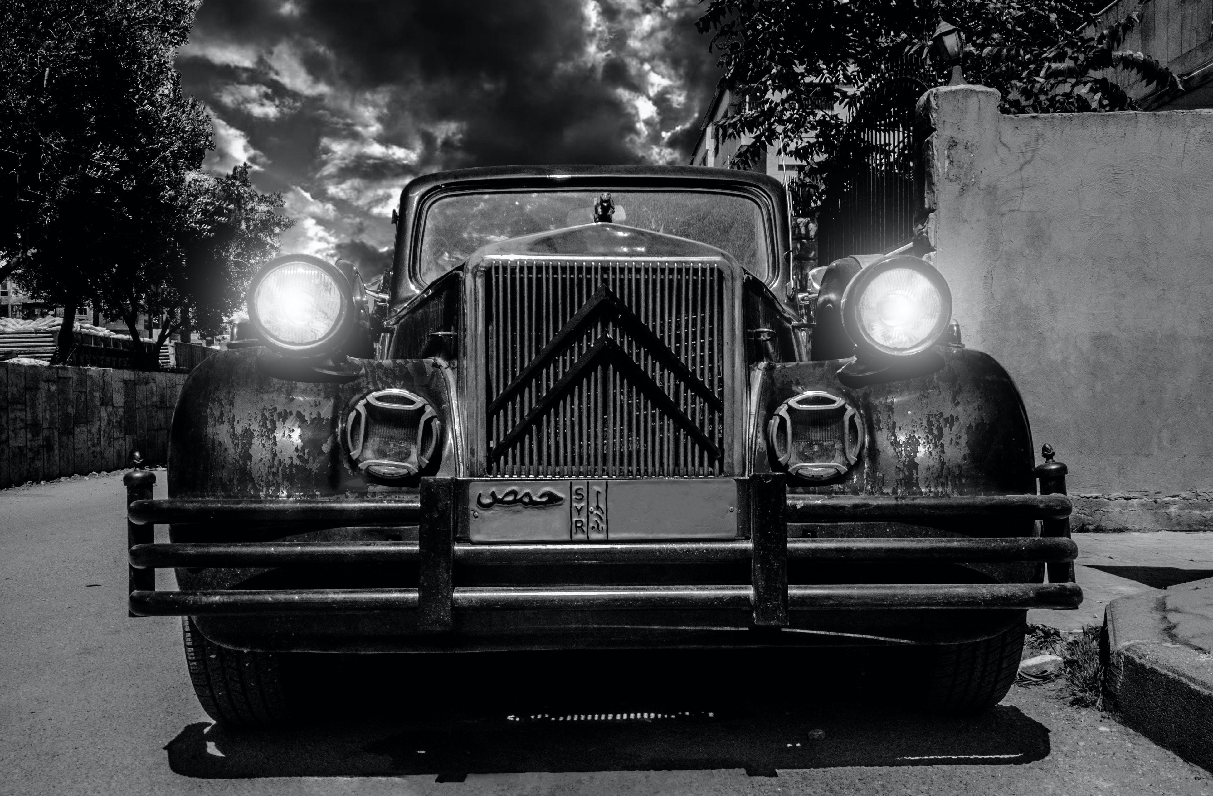 Δωρεάν στοκ φωτογραφιών με citroen, vintage, vintage αυτοκίνητο, ασπρόμαυρο