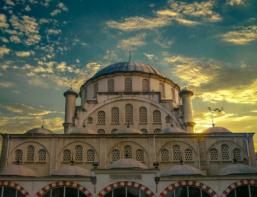 Free stock photo of blue sky, cloudy sky, grand mosque