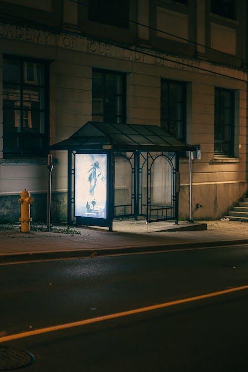 Ảnh lưu trữ miễn phí về các thành phố, đêm, điểm dừng xe buýt
