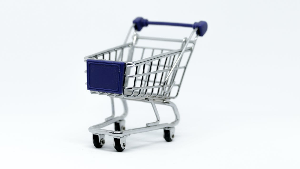 shopping cart with colors similar to bd store