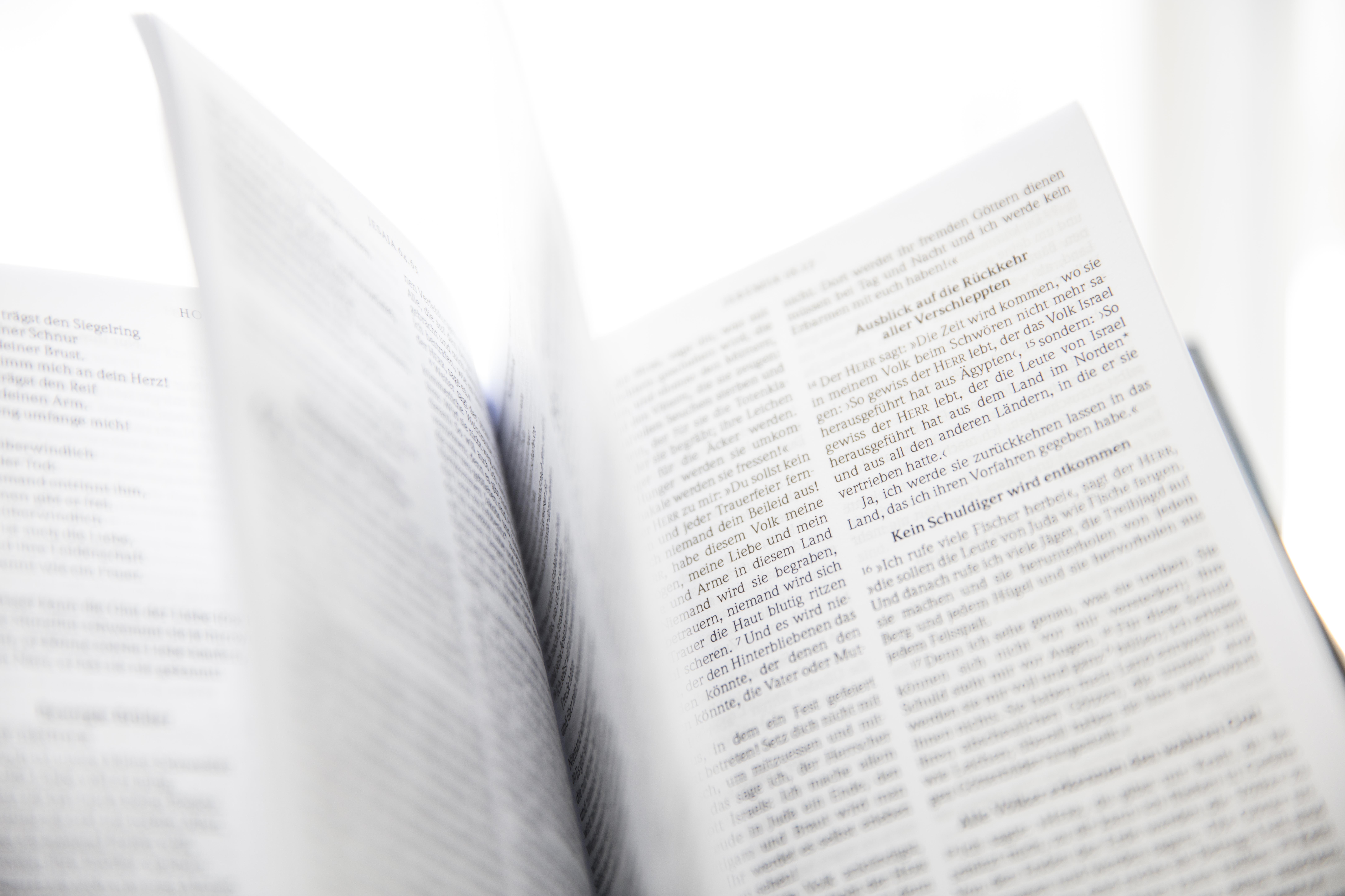 Focus Photo of Open Book
