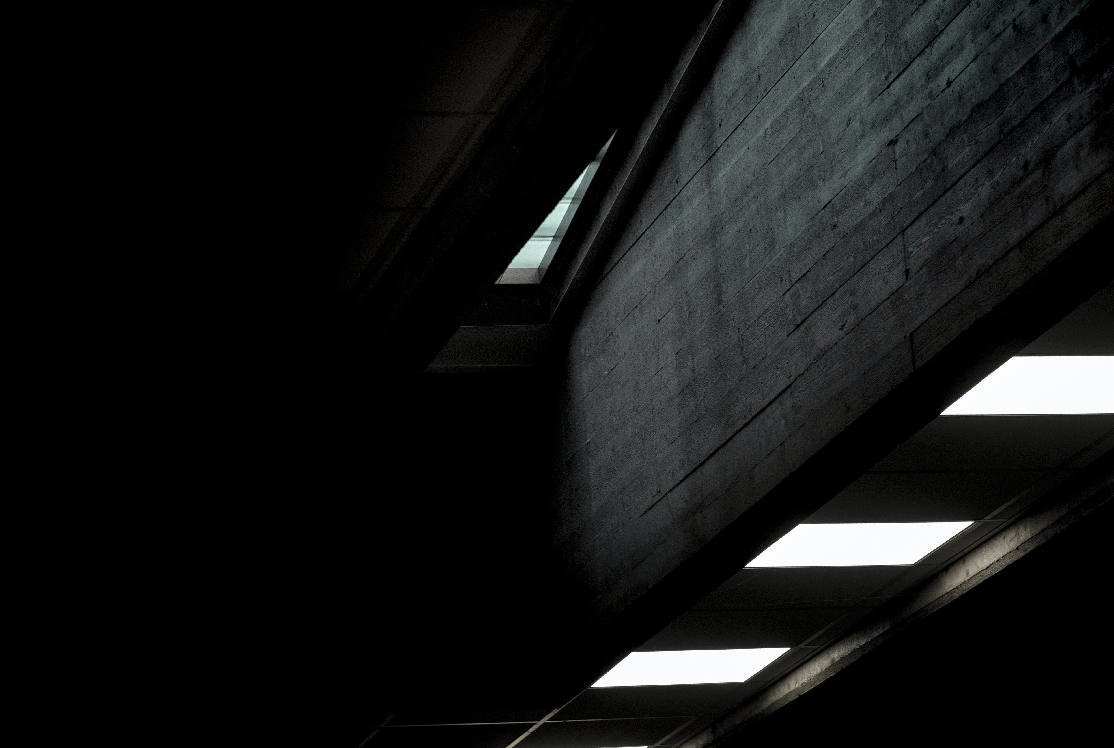 Desktop background of lights, dark, glass, wooden
