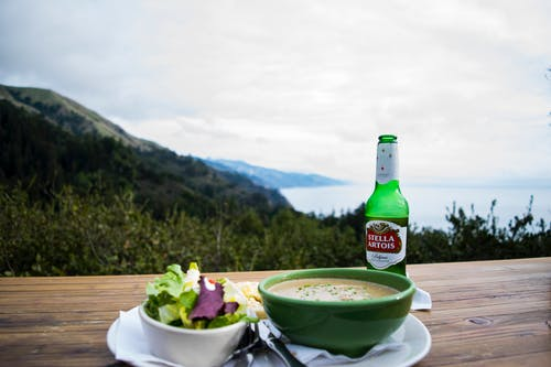 Free stock photo of beer, big sur, coast, dinner