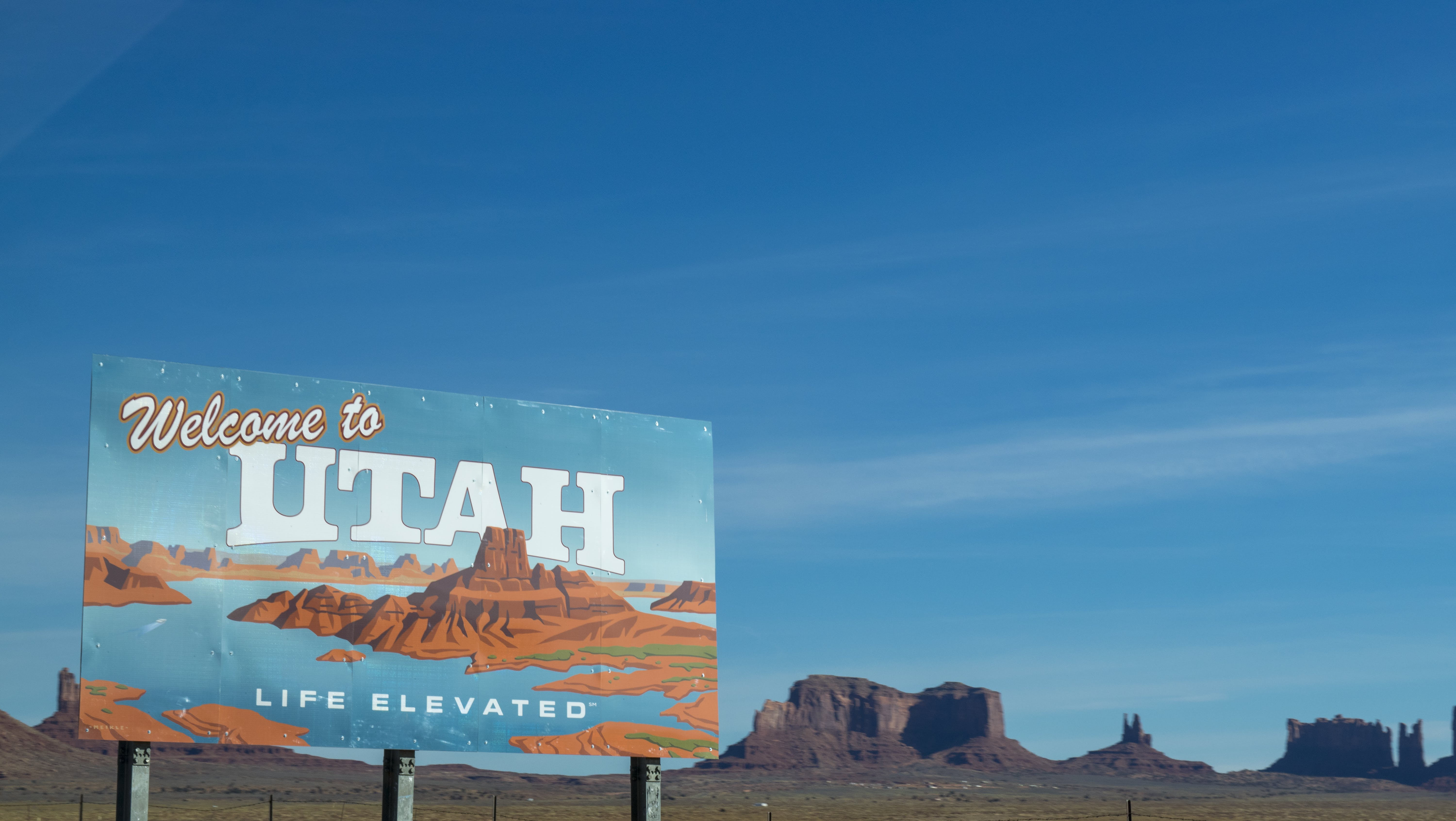 Welcome to Utah Poster Under Blue Daytime Sky
