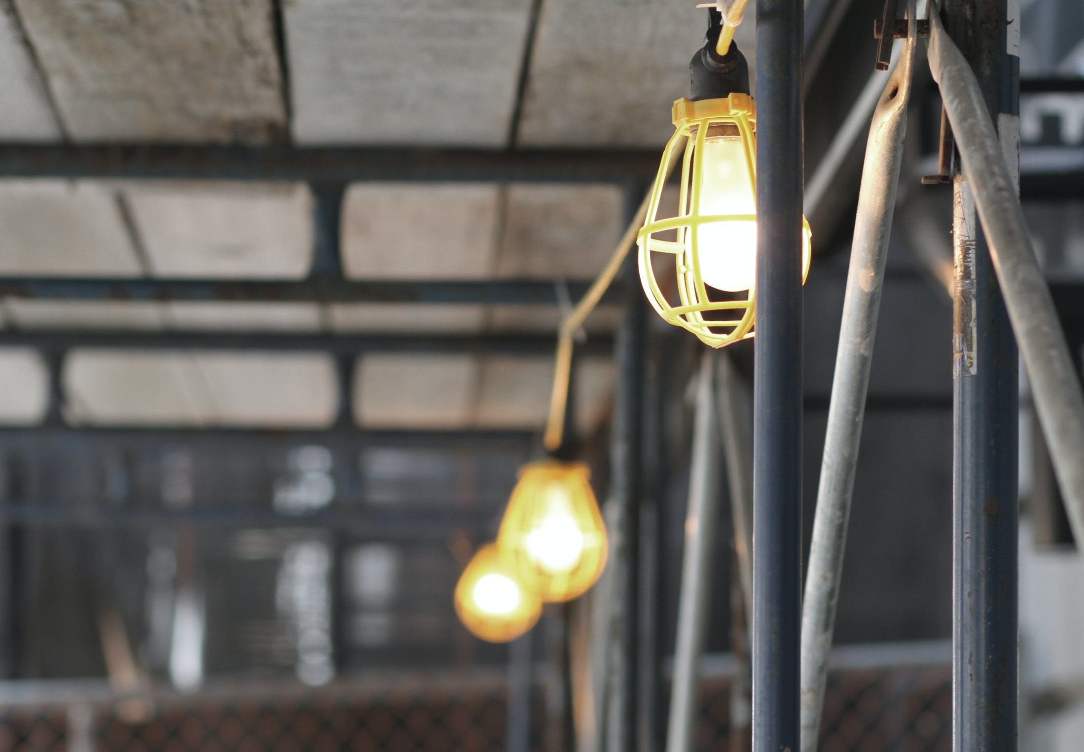 Free stock photo of construction, lights, safety, scaffolding