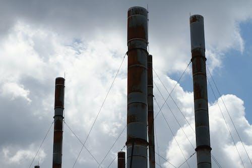 工廠, 棧, 烟囱, 煙囪 的 免费素材照片