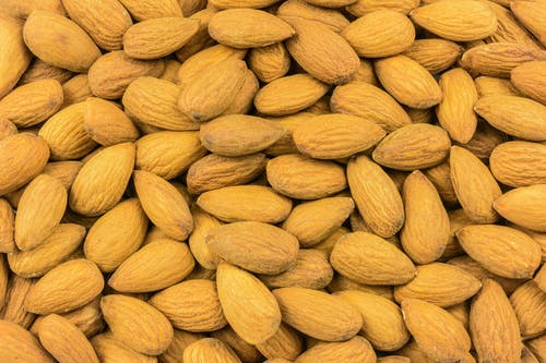Free stock photo of almonds, antioxidant, background, closeup