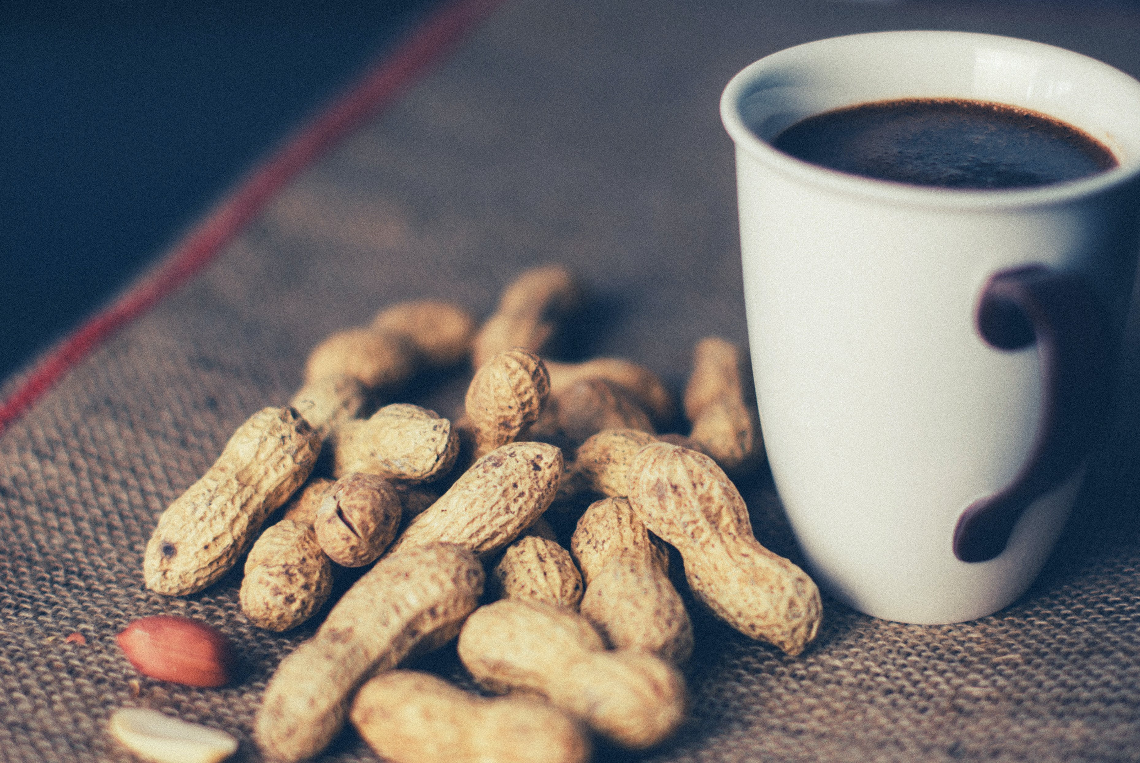 Free stock photo of coffee, cup, mug, nuts