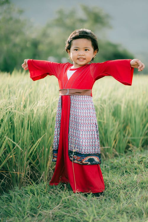 Free stock photo of child, cute, dress