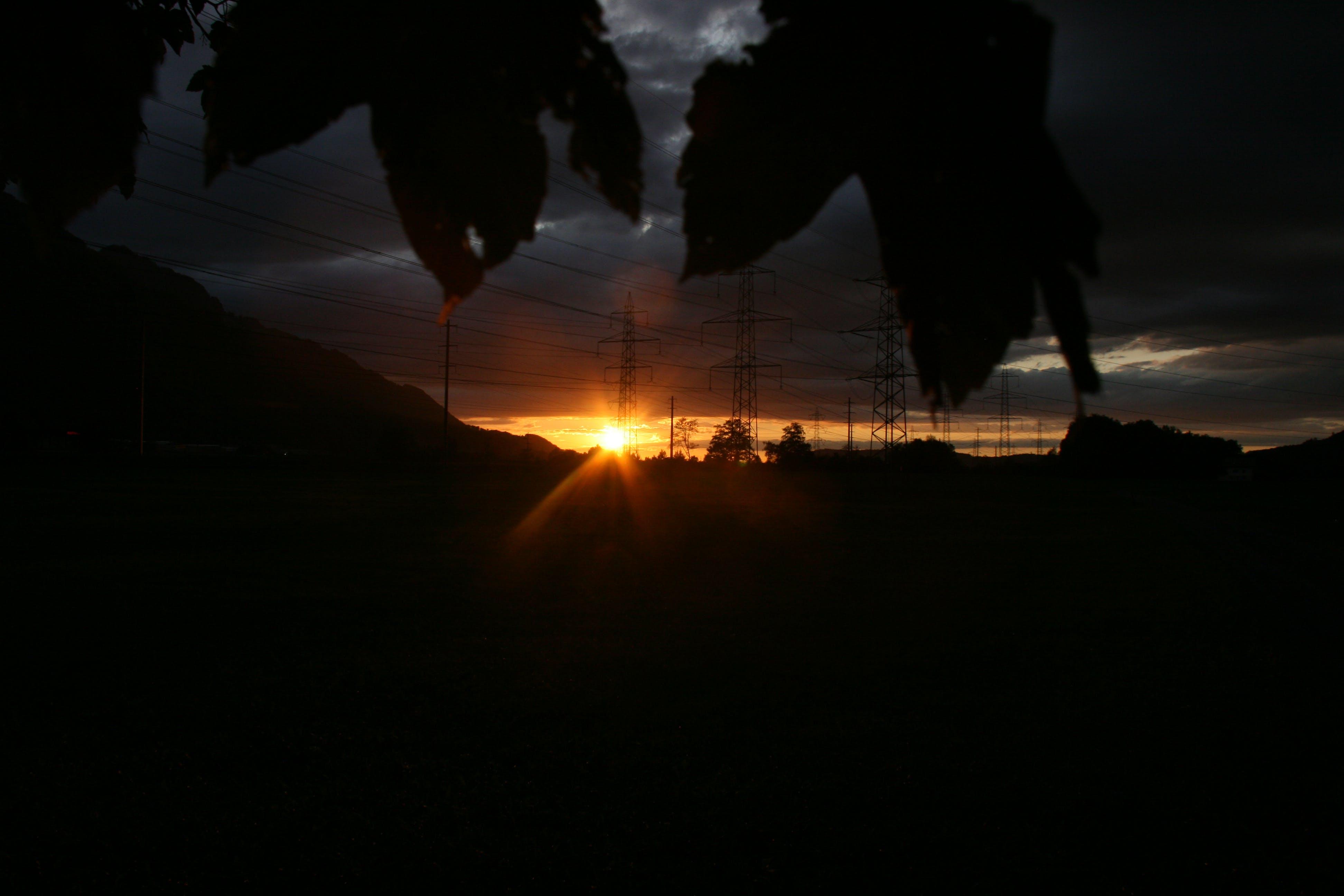Free stock photo of dawn, dark, sun, sunshine