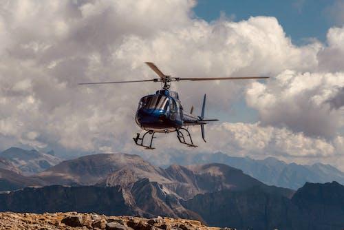 Darmowe zdjęcie z galerii z chmura, góra, helikopter