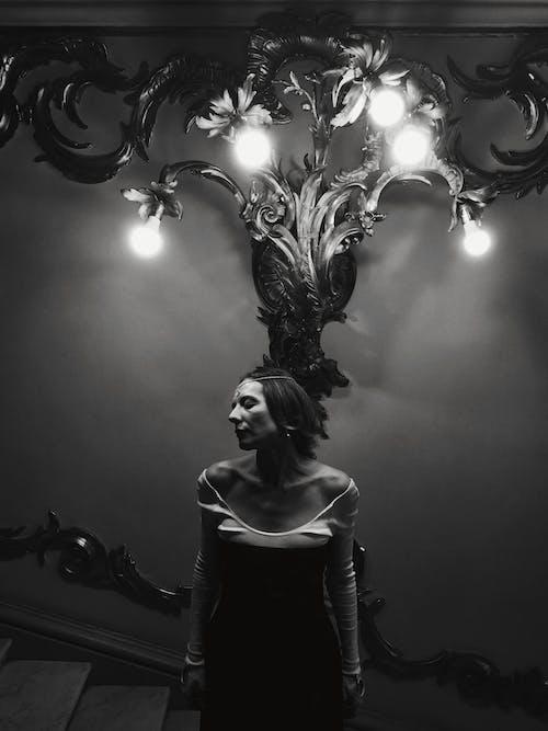 Základová fotografie zdarma na téma černobílý, dospělý, elegantní