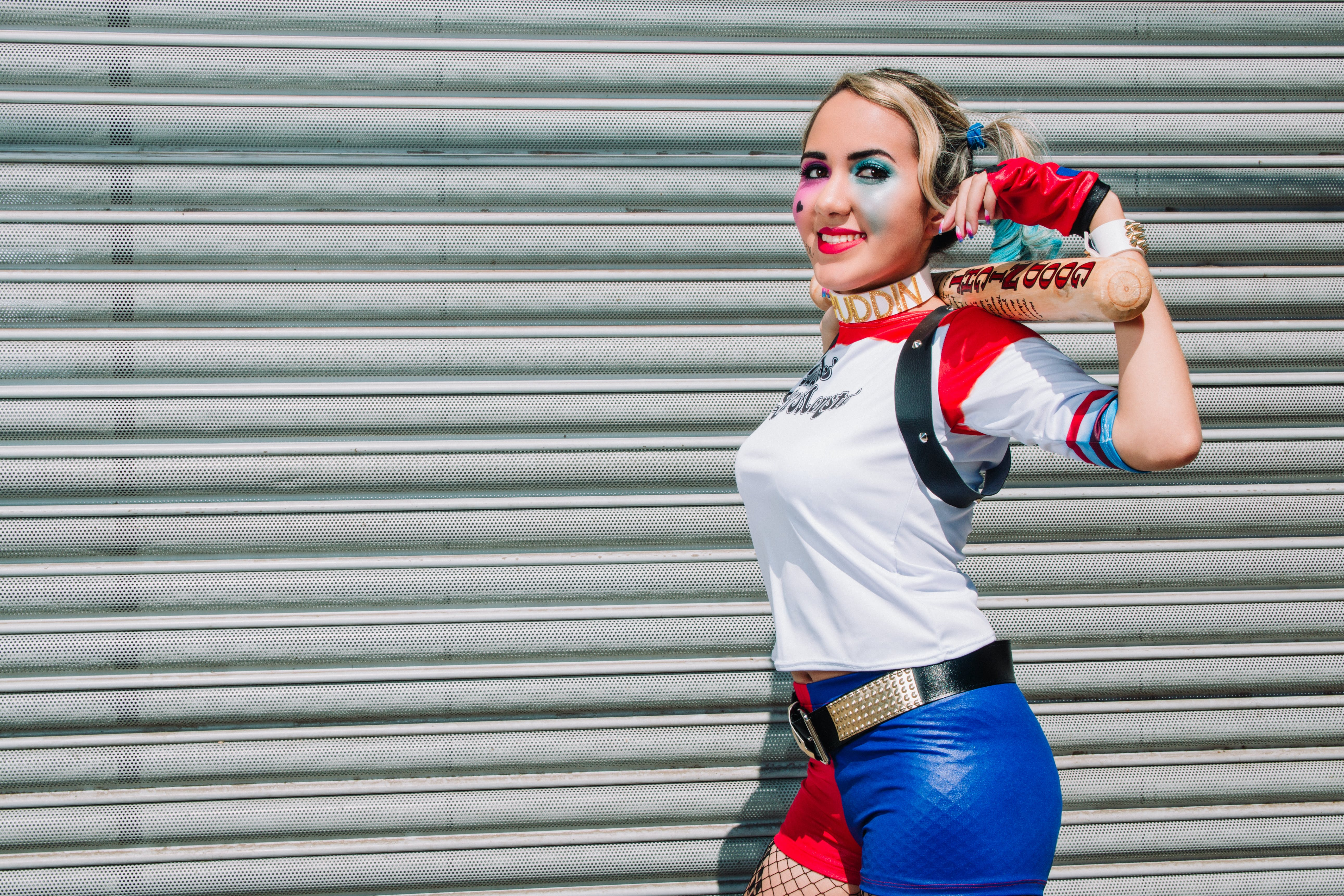 Free stock photo of cosplay, fantasy, happy, harley quinn