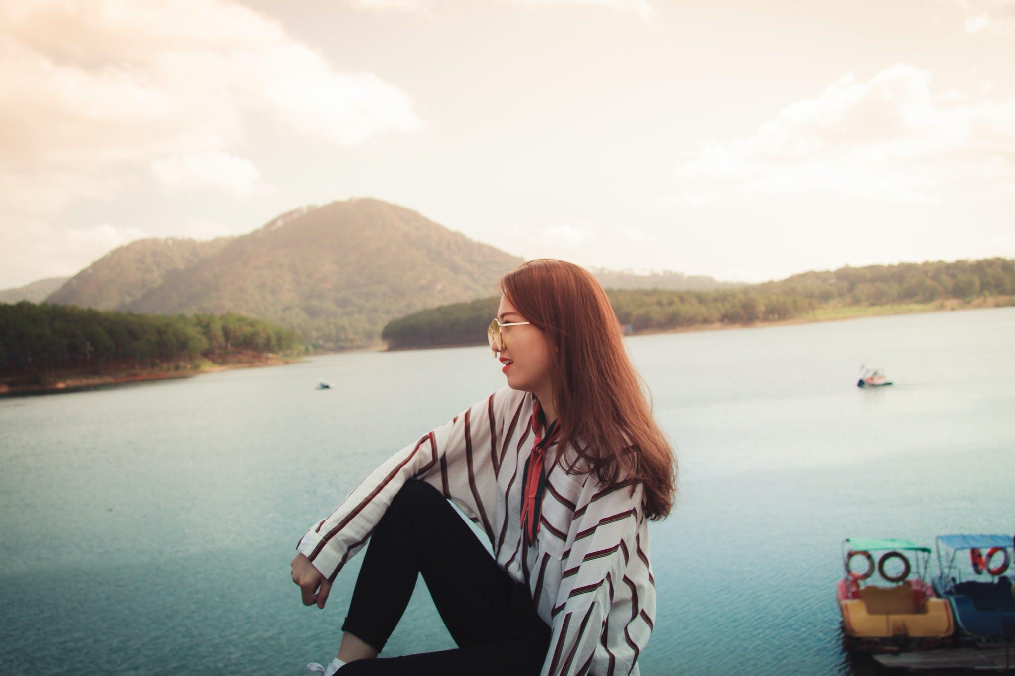 Woman Staring at the Horizon