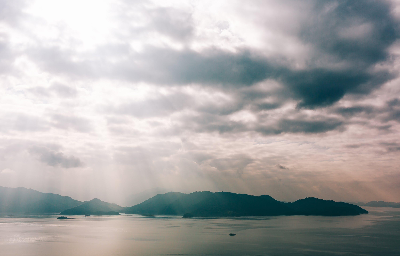 clouds, daylight, lake
