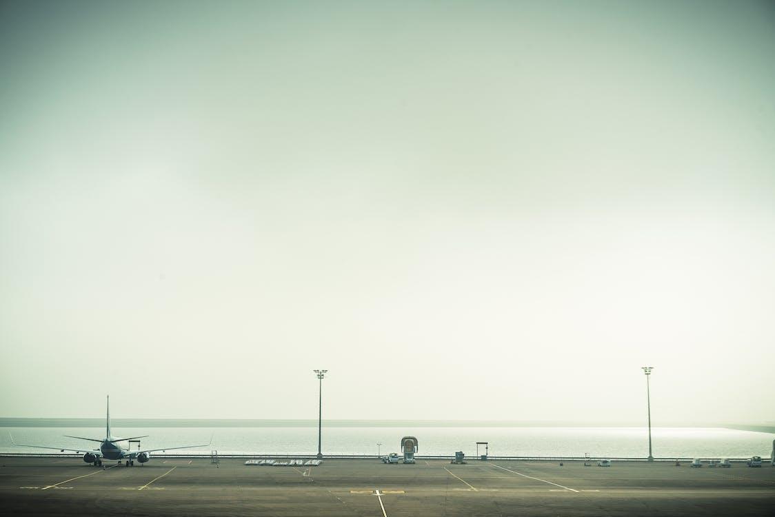 asfalt, bruk, chmury
