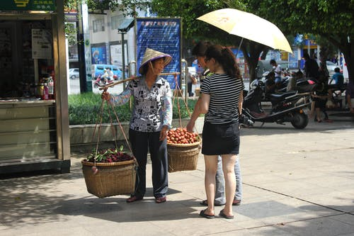 Free stock photo of china, fruit, hot, shoppers
