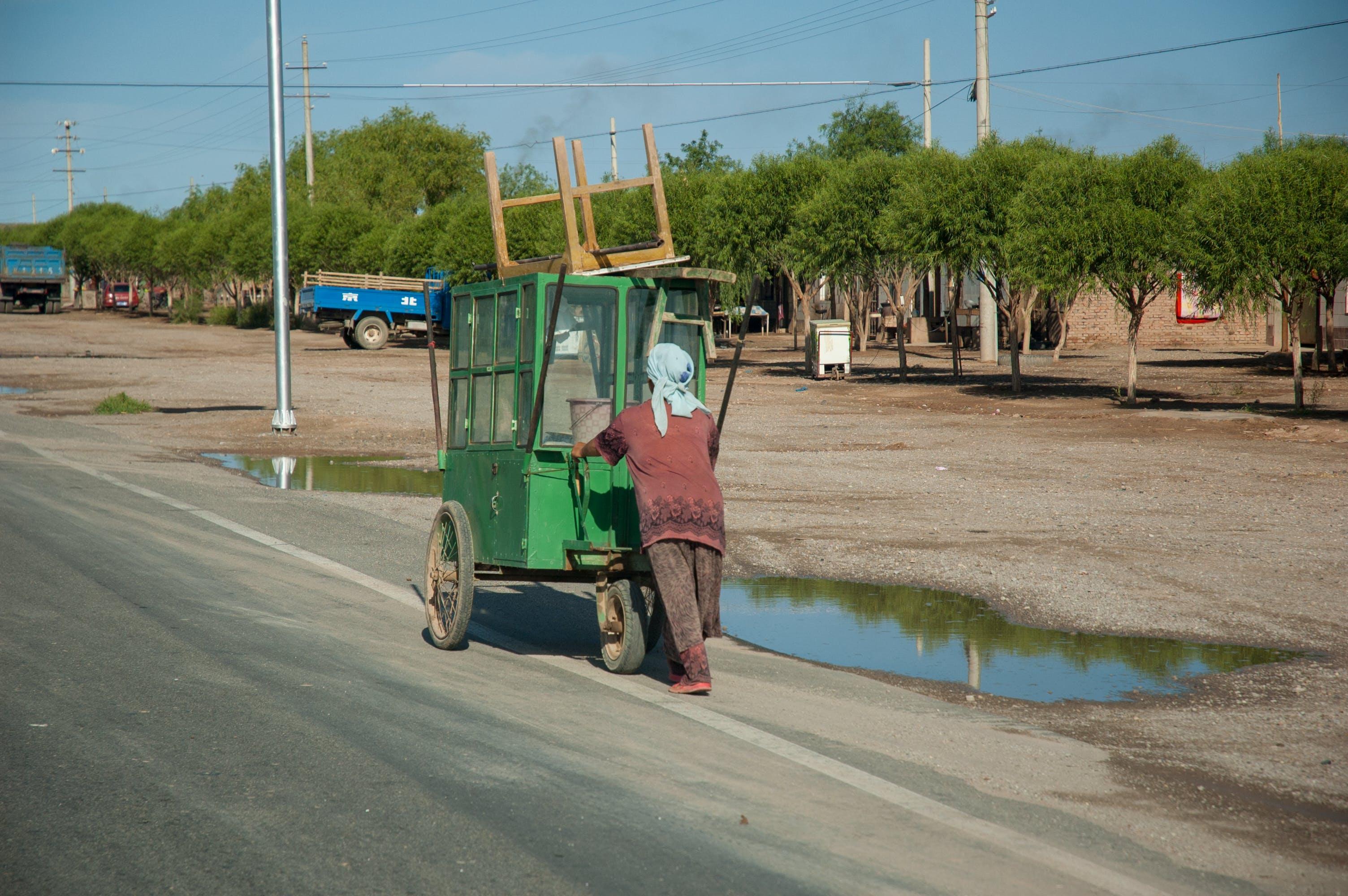 Free stock photo of cart, china, desert, pushing
