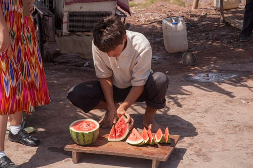 Free stock photo of desert, roadside vendor, watermelon