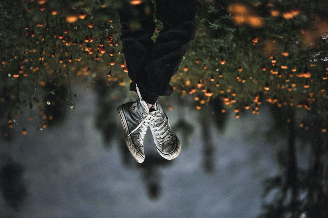 Pair of Gray Shoes