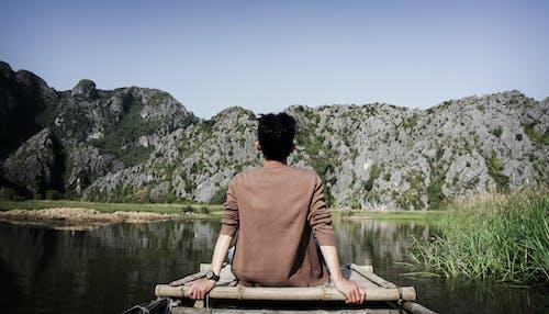 おとこ, 屋外, 山岳, 岩の無料の写真素材