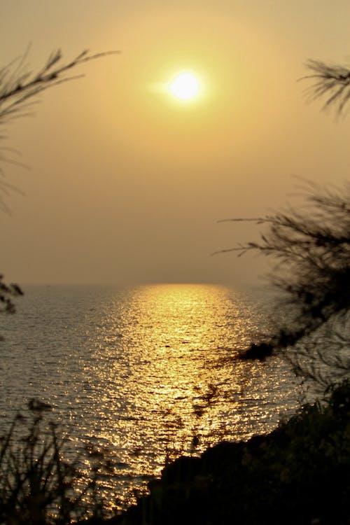 Fotobanka sbezplatnými fotkami na tému pláž, večerné slnko, voda