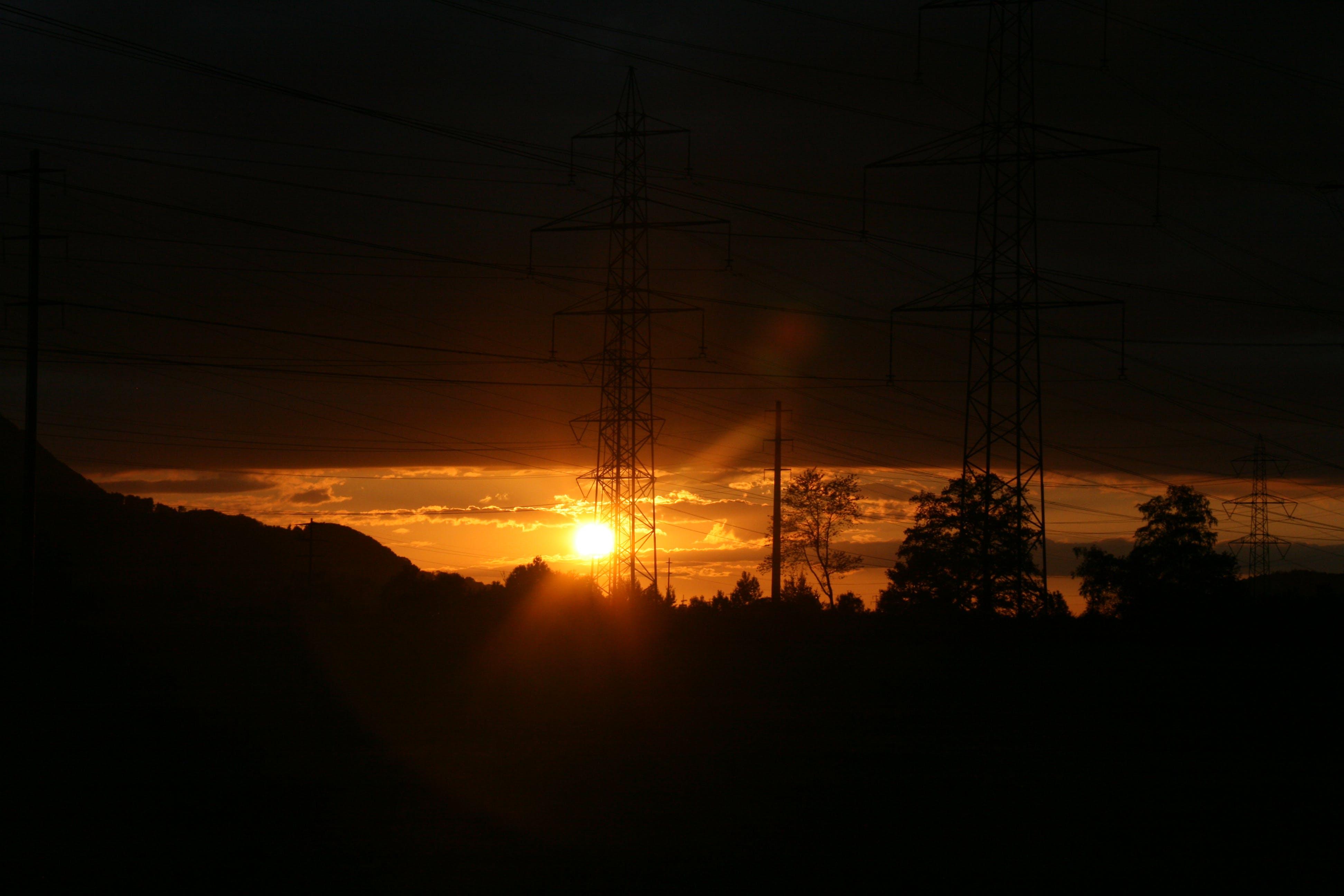 Free stock photo of dawn, sunset, field, dark