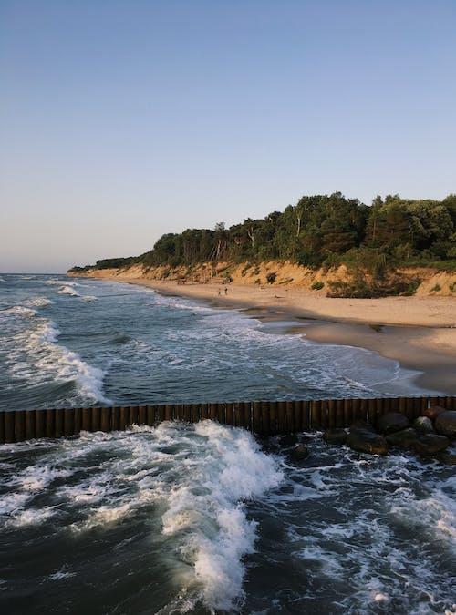 Sea Waves Crashing on Shore