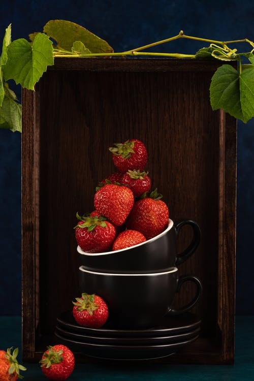 Strawberries in Stainless Steel Cup