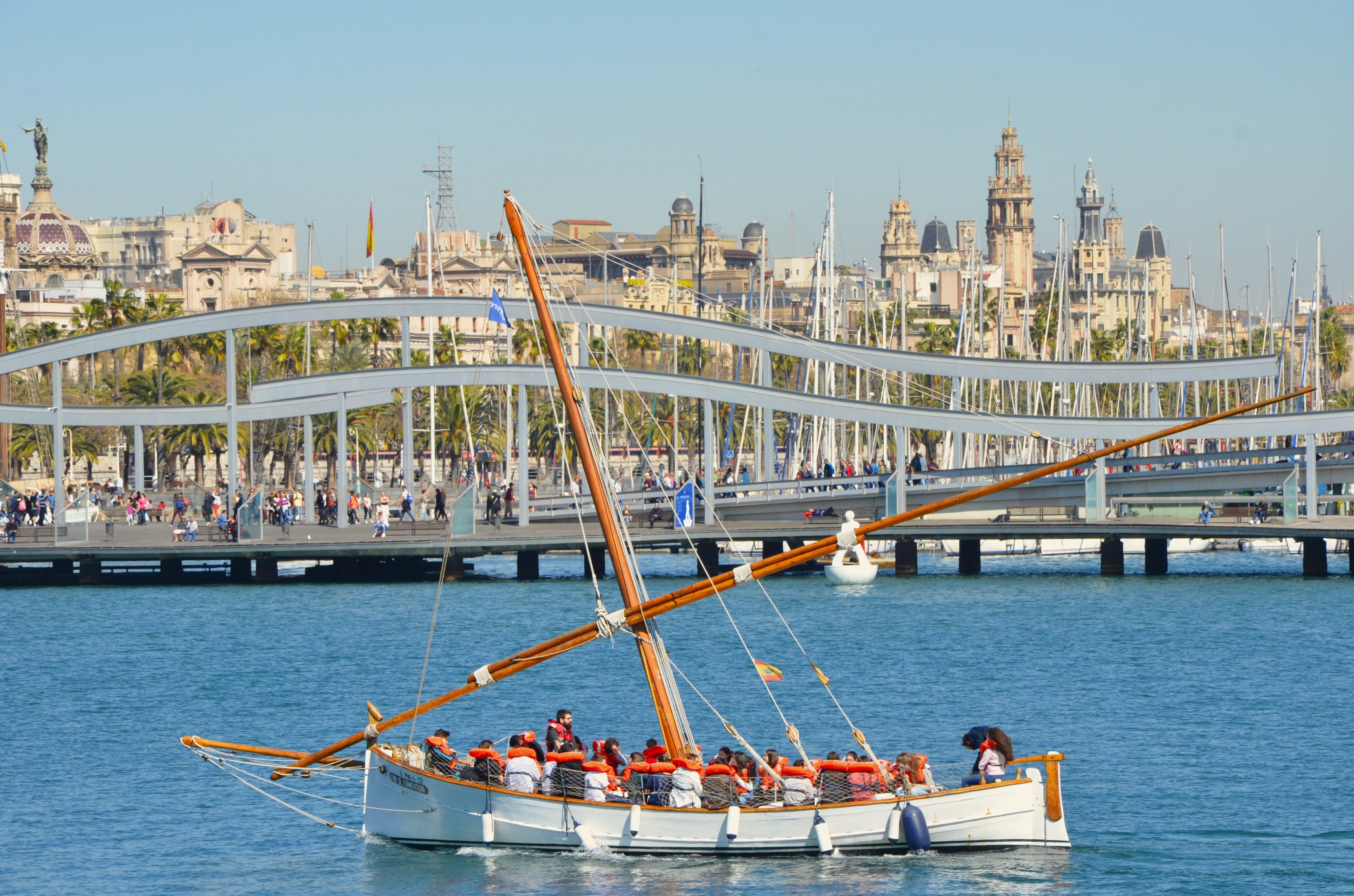 Free stock photo of barcelona, barco, puerto