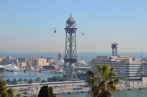 barcelona, porto, teleferico, torre içeren Ücretsiz stok fotoğraf