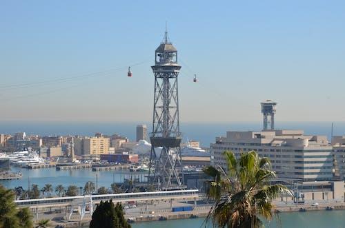 Foto profissional grátis de barcelona, puerto, teleferico, torre