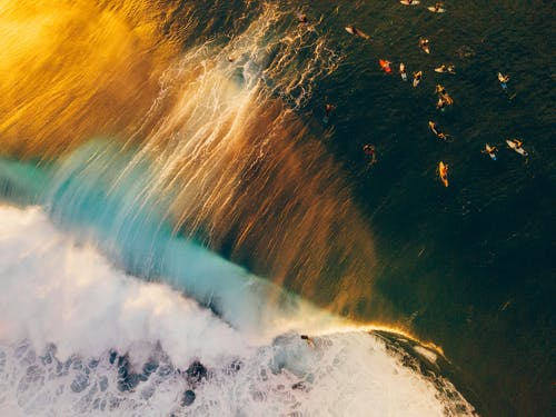 Gratis lagerfoto af bølge, hav, luftfoto
