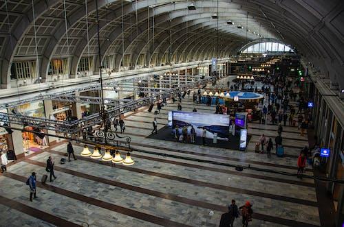 Foto profissional grátis de aeroporto, amontoado, arquitetura