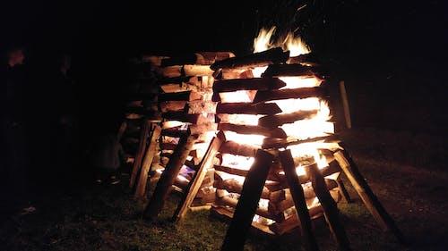 Fotos de stock gratuitas de fuego, madera, noche