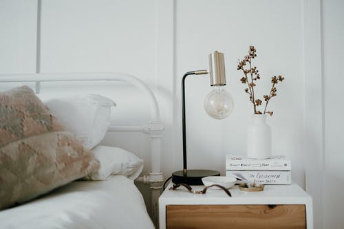 Lamp on the Bedside Table