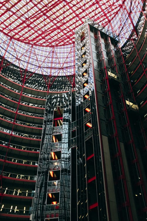 Red and Black Building Interior